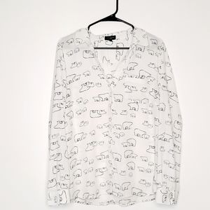The Limited Ashton Button Down Long Sleeve Top XL